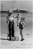 Fishing Kids Archival Photo Poster Poster