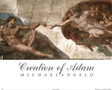 Creation of Adam (Full) Michaelangelo ART PRINT POSTER Masterprint