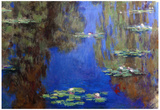 Claude Monet Water-Lilies 6 Art Print Poster Posters