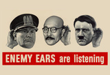 Enemy Ears Are Listening WWII War Propaganda Art Print Poster Masterprint