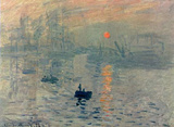 Claude Monet (Impression, Sunrise) Art Poster Print Masterprint
