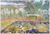 Childe Hassam A Garden on Long Island Art Print Poster Poster