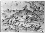Pieter Brueghel (Big fish eat the little ones) Art Poster Print Masterprint