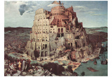 Pieter Brueghel (Tower of Babel) Art Poster Print Posters