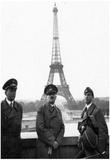 Adolf Hitler in Paris Francew Eiffel Tower Archival Photo Poster Print Prints