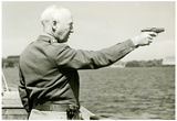 George Patton Firing Pistol Archival Photo Poster Print Prints