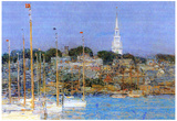 Childe Hassam Cat Boats Newport Art Print Poster Prints