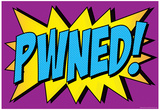 Pwned! Comic Pop-Art Art Print Poster Prints