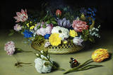 Ambrosius Bosschaert the Elder Flower Still Life Art Print Poster Masterprint