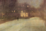 James Whistler Nocturne in Gray and Gold Snow in Chelsea Art Print Poster Masterprint