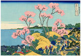 Katsushika Hokusai The Fuji from Gotenyama Art Poster Print Photo