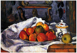 Paul Cezanne (Still Life, Bowl with apples) Art Poster Print Print