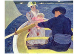 Mary Cassatt (The boat trip) Art Poster Print Posters
