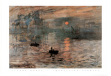 Impression Sunrise Claude Monet ART PRINT POSTER boats Prints