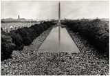 Civil Rights March in Washington DC Archival Photo Poster Print - Poster