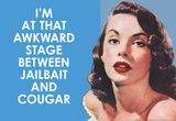 I'm at that Awkward Stage between Jailbait and Cougar Funny Art Poster Print Masterprint