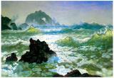 Albert Bierstadt Seal Rock 2 Art Print Poster Posters