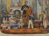 English lithographer to 1847 (The little princes and princesses in their game room. Queen Victoria Masterprint