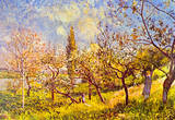 Alfred Sisley An Orchard in Spring Art Print Poster Masterprint