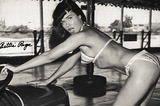Bettie Page Bumper Cars Archival Photo Poster Print Masterprint