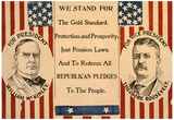 McKinley Roosevelt for President Historical Political Poster Print Prints