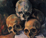 Paul Cezanne (Still lifes, skull pyramid) Art Poster Print Masterprint