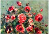 Pierre-Auguste Renoir Still Life Roses of Vargemont Art Print Poster Posters by Pierre-Auguste Renoir