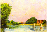 Alfred Sisley Thames at Hampton Court Art Print Poster Prints