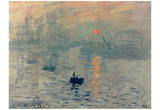 Claude Monet (Impression, Sunrise) Art Poster Print Posters