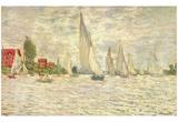 Claude Monet (Sailboats, Regatta at Argenteuil) Art Poster Print Print