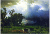 Albert Bierstadt Before the Storm Art Print Poster Plakater