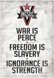 1984 INGSOC Big Brother Political Slogans Poster Plakater