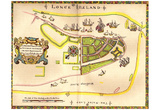 Map of Manhattan (New Amsterdam, or Mannados, 1661) Art Poster Print Poster