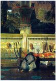 Lawrence Alma-Tadema An Egyptian Widow at the Time of Diocletian, Detail Art Print Poster Posters