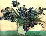 Vincent Van Gogh Irises In Vase Art Print Poster Posters