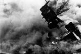 Pearl Harbor (USS Arizona Burning) Art Poster Print Masterprint
