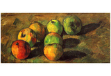 Paul Cezanne (Still Life with seven apples) Art Poster Print Posters
