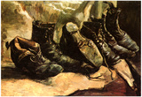 Vincent Van Gogh Three Pairs of Shoes Art Print Poster Print