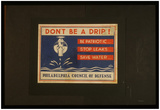 Philadelphia Council of Defense (Don't Be a Drip!) Art Poster Print Prints