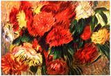 Pierre Auguste Renoir Still Life with Chrysanthemums Art Print Poster Posters