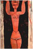 Amadeo Modigliani Standing Caryatid Art Print Poster Posters