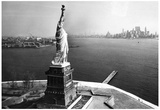 Statue of Liberty New York City Skyilne Archival Photo Poster Print Prints