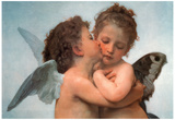 William Bouguereau Le Premier Baiser The First Kiss Art Print Poster Prints