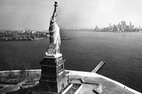 Statue of Liberty New York City Skyilne Archival Photo Poster Print Masterprint