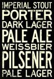 Beer Types and Styles Art Print Poster Masterprint