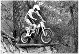 Motocross Racing On Edge Archival Photo Poster Posters