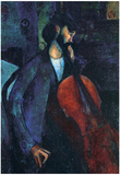 Amadeo Modigliani The Cellist Art Print Poster Posters