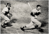 Ted Williams Home Run Boston Red Sox Archival Photo Sports Poster Print Posters