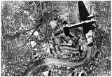 WWII Air Raid on Britain Archival Photo Poster Print Poster