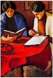 August Macke Two women at the Table Art Print Poster Print